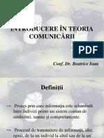 Introducere in Teoria Comunicarii