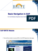 Basic Navigation in SAP Windows