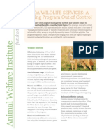 USDA Wildlife Services Fact Sheet - Animal Welfare Institute / Project Coyote