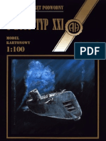 Halinski Model Kartonowy 01 - Submarine U-2511 U-Boat Type Xxi