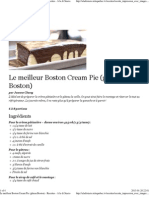 Le meilleur Boston Cream Pie (gâteau Boston) - Recettes - À la di Stasio