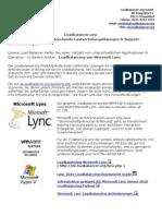 Load Balancing von Microsoft Lync besser und mit mehr Funktionalität - Load Balancer Lösungen von Loadbalancer.org