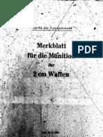 H.Dv.481-2 Merkblatt für die Munition der 2 cm Waffen - 20.04.1943