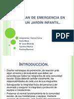 Plan de emergencia en un jardín infantil