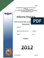 Informe Final 4 Laboratorio de Electrotecnia