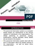 Management Information System - Personnel Information System