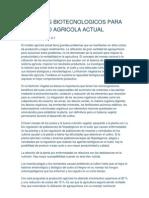 Recursos Biotecnologicos Para El Manejo Agricola Actual