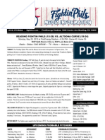 052013 Reading Fightins Game Notes