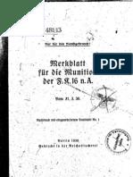 H.Dv.481-13 Merkblatt für die Munition der FK 16 n A - 31.03.1936
