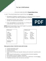 English Textbook Topics Year 1 - 6