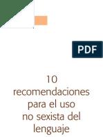 10recomendaciones LENGUAJE SEXISTA