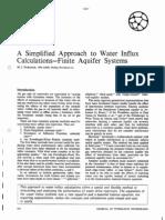 Fetkovich Simplified Water Influx