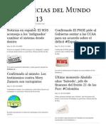 noticias del mundo - mayo 2013
