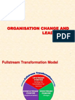 Organisation change, leadership