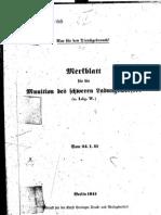 H.Dv.481-66 Merkblatt für die Munition des schweren Ladungswerfers - 24.01.1941