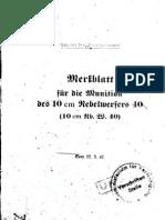 H.Dv.481-68 Merkblatt für die Munition des 10 cm Nebelwerfers 40 - 22.09.1942