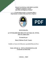 Monografía - Actividades recreativas para el nivel escolarizado.doc