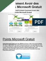 Points Microsoft Gratuit