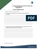 Concept Alternatives Comment Sheet
