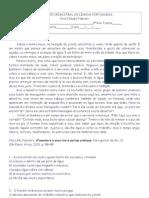 AVALIAÇÃO BIMESTRAL DE LÍNGUA PORTUGUESA 9ºAno