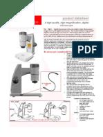 Aigo GE5, Microscopio Digital, Ficha Técnica Inglés
