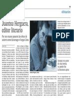 Juantxu Herguera, Editor Literario