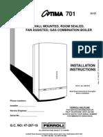 Optima 701 Manual