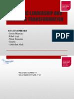 Strategic Leadership and Business Transformation Presentation