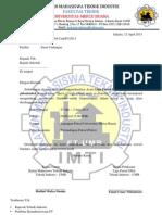Contoh Surat Undangan Lomba FUTSAL untuk SMA/SMK