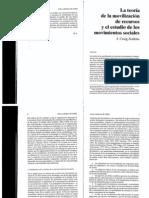 La Teoria de La Movilizacion de Recursos y El Estudio de Los Movimientos Sociales