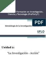 Unidad 2 - Profincyt - Métodología Cualitativa