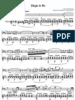 [Bottesini] Elegia in Re (Guitar and cello/bass)