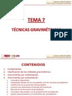 TEMA 7. Técnicas gravimétricas