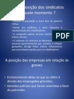 MOVIMENTO SINDICAL DÉCADA DE 80