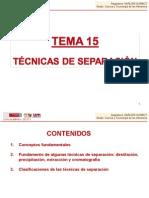TEMA 15. Técnicas de separación.