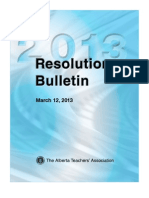 ATA Resolutions 2013