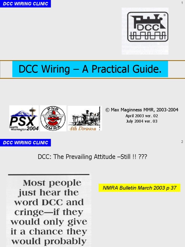 Dcc Wiring Clinic Diagram Fuse Box For Electrical Switch Rh Es Scribd Com Easy Ho