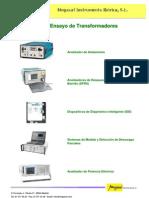 Catalogo de Ensayo de Transformadores