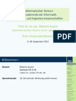 Vorlesung - Chapter 1 (Prof. Avanzi)