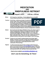 Meditation Retreat - Sat., Aug. 3, 2013, 8:30 am - 4:30 pm