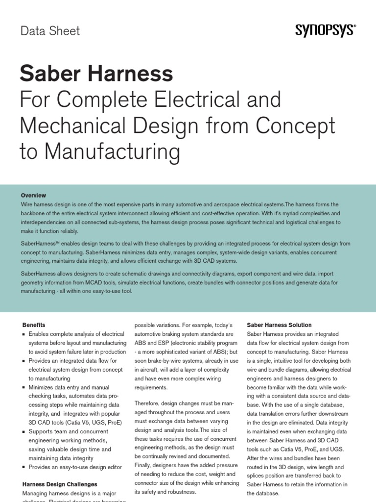 Saber Harness Ds   Computer Aided Design   Electrical Connector