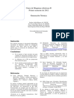 informe 1- maquinas 2- Generación Térmica
