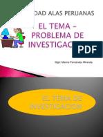 2° 3° clase P1 El tema  PROBLEMA de la investigacion