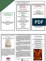 Tríptico II Jornadas Catedral 2013-SOFCAPLE
