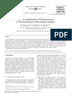 Dynamic Optimization of Batch Processes I