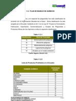 11.2 Plan de Manejos de Quimicos Producnorte