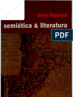 Decio Pignatari Semiotica & Literatura