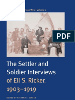 Voices of the AmericanWest, Volume 1  the Indian interviews of Eli S. Ricker, 1903–1919