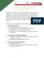 INFORME  DEL DIAGNÓSTICO DE INVESTIGACIÓN MATEMÁTICA