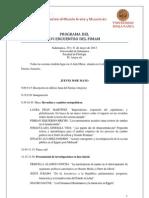 Programa FIMAM Salamanca 2013
